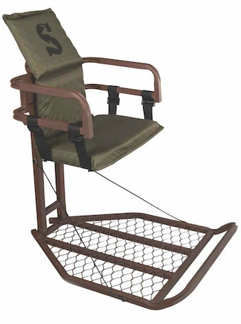 Long sits in cold conditions requires a comfortable and roomy treestand such as The Peak from Summit.