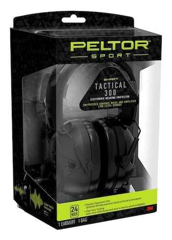 The PELTOR Sport Tactical 300 and 500 Hearing Protectors measures the energy in gunshot noise and automatically sets suppression time for reduced echoes and increased comfort.