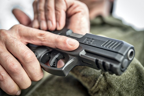 Generous front and rear machined serrations along the slide ensure a no-slip grip for cartridge chambering and slide manipulation. (Photo: Taurus)
