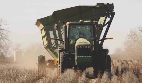 Depending on weather, crop fields will bustle with farmers and harvesting equipment for a few days each fall.