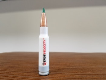 Sierra Bullets ammo loaded in a TruVelocity polymer casing.