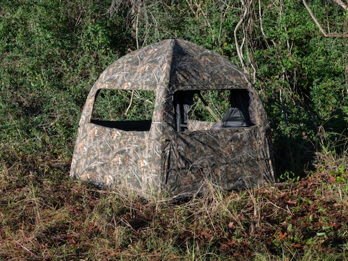 True Timber's new Inflatable Ground Blind.
