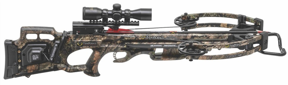 The new-for-2019 TenPoint Turbo M1 measures 32.5 inches long and weighs 6.4 pounds.
