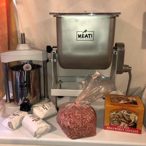 Some simple processing tools, a seasoning kit and a few hours to complete the task is all it takes to turn out brats that will amaze your friends and family.