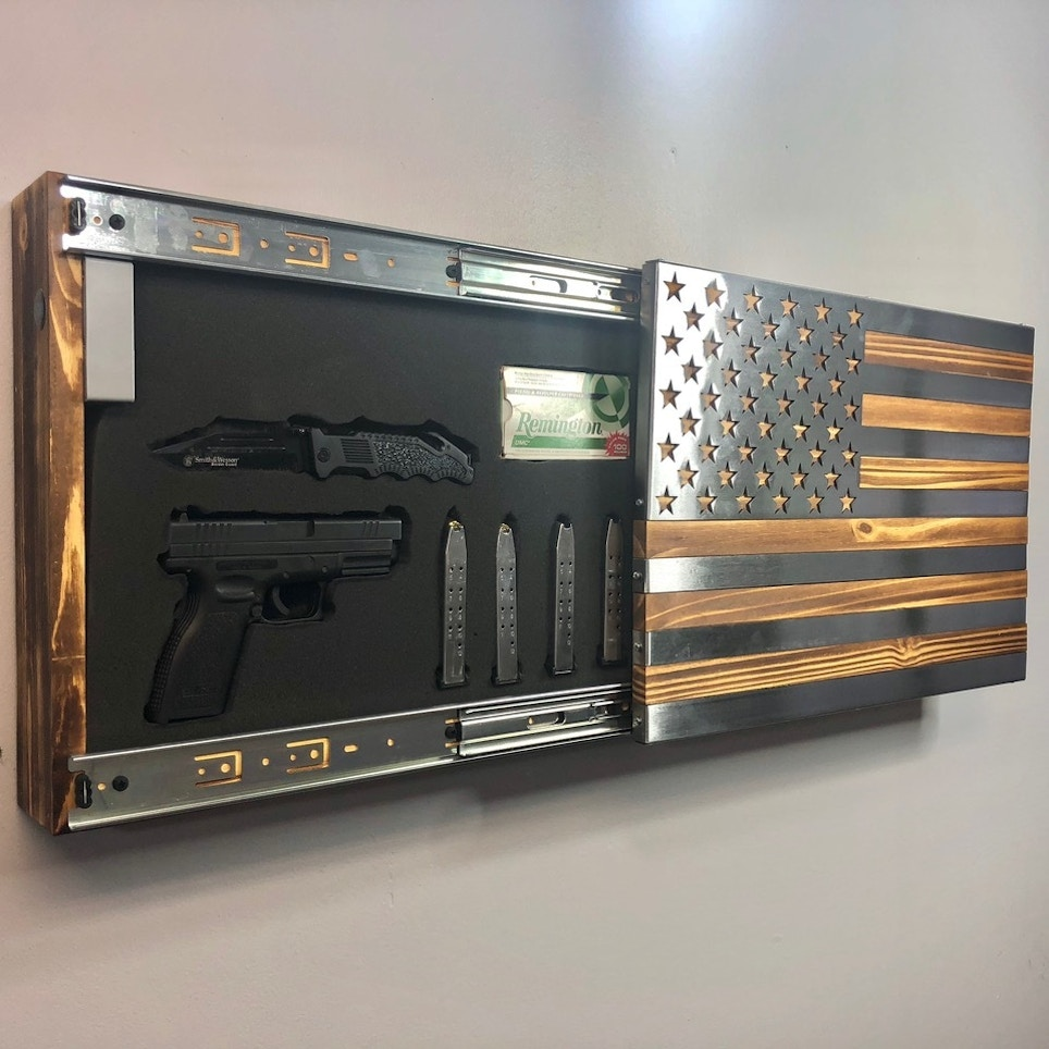 Metal Art of Wisconsin Freedom Cabinet