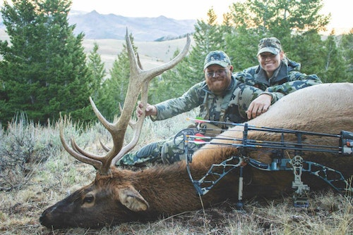 A backcountry bull the author harvested on a special trip with his wife.