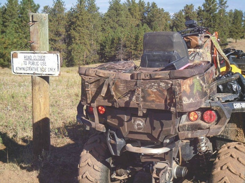 The author has met many unethical hunters pushing beyond road closures on ATVs.