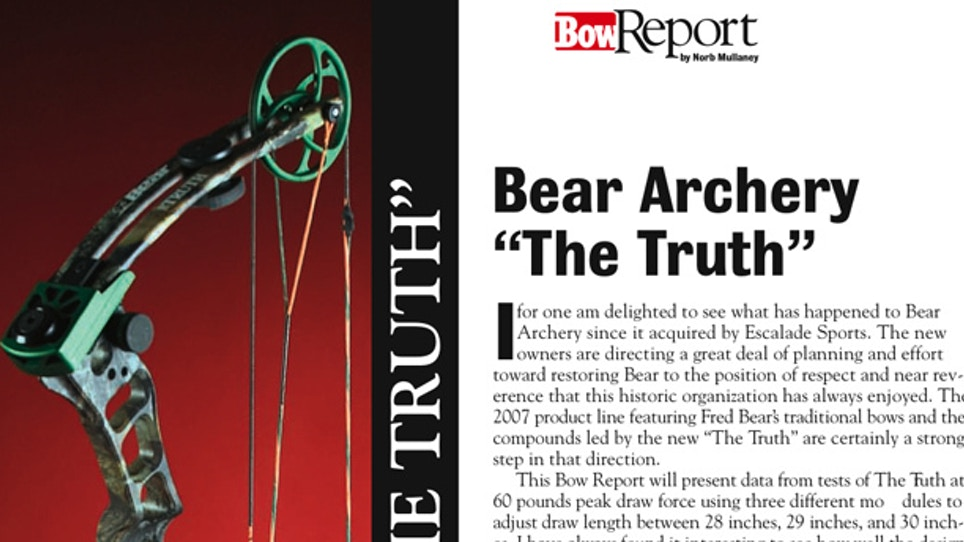 """Bow Report: Bear Archery """"The Truth"""""""