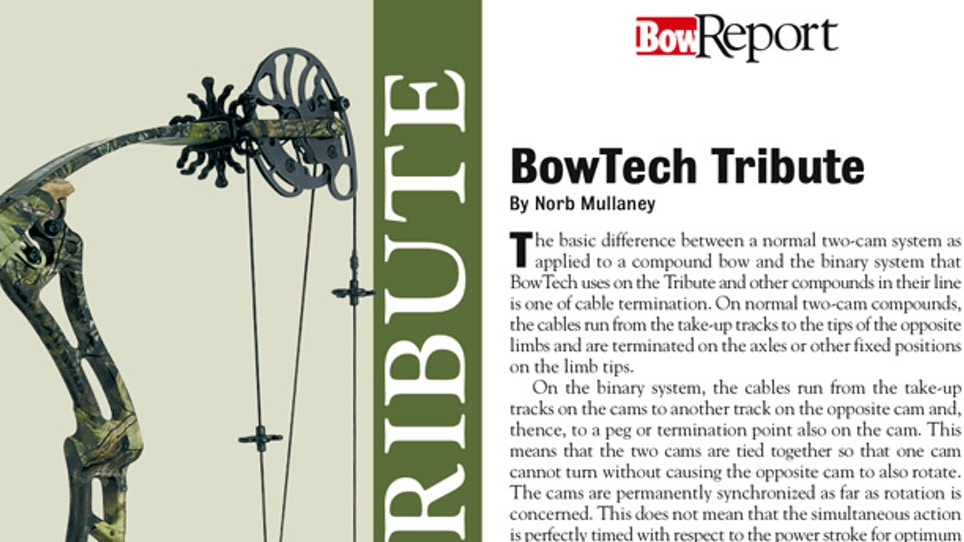 Bow Report: BowTech Tribute