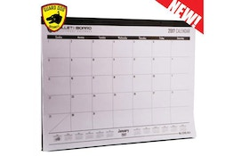 A bulletproof desk calendar is here for your office