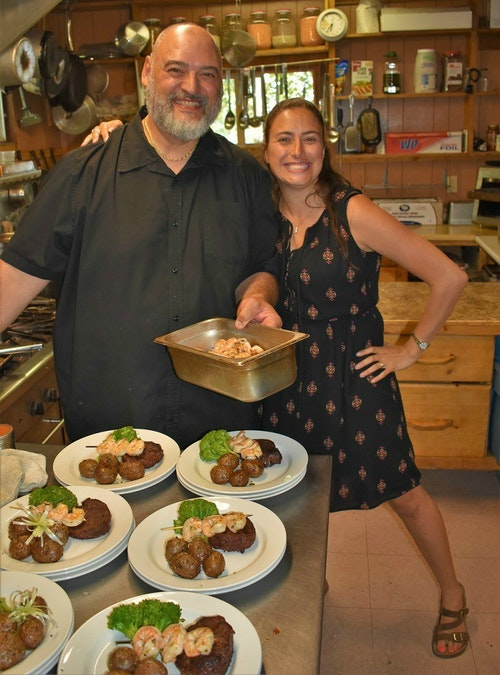 Chef Enzo Costantini and Aikens Lake co-owner Julie Turenne.