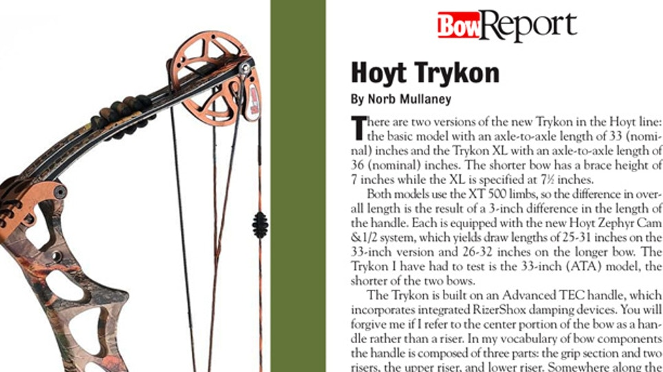Bow Report: Hoyt Trykon | Grand View Outdoors