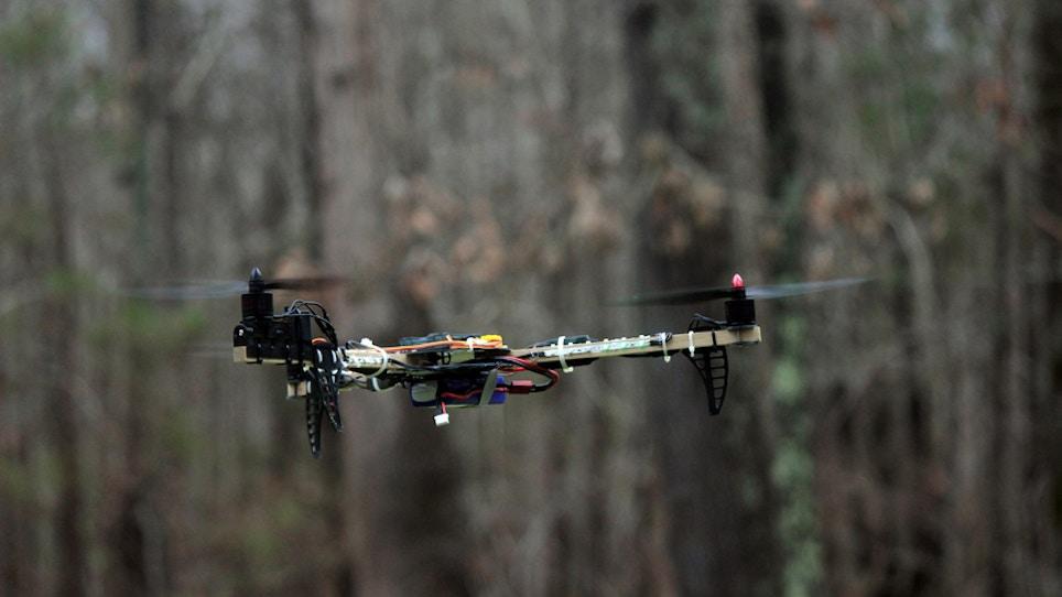 "Shotgun Blasts Drone ""To Smithereens"""