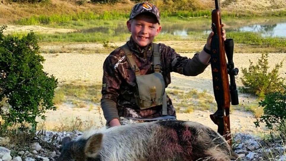 Hunter's First Hog!