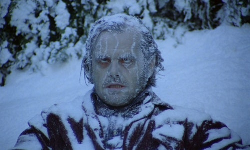 """If you look like Jack Nicholson's character from """"The Shining"""" after packing the vehicle with fishing gear, it might be too cold to take the kids fishing."""