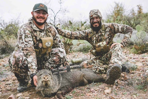 The author's brother arrowed a javelina during the pair's Coues adventure.