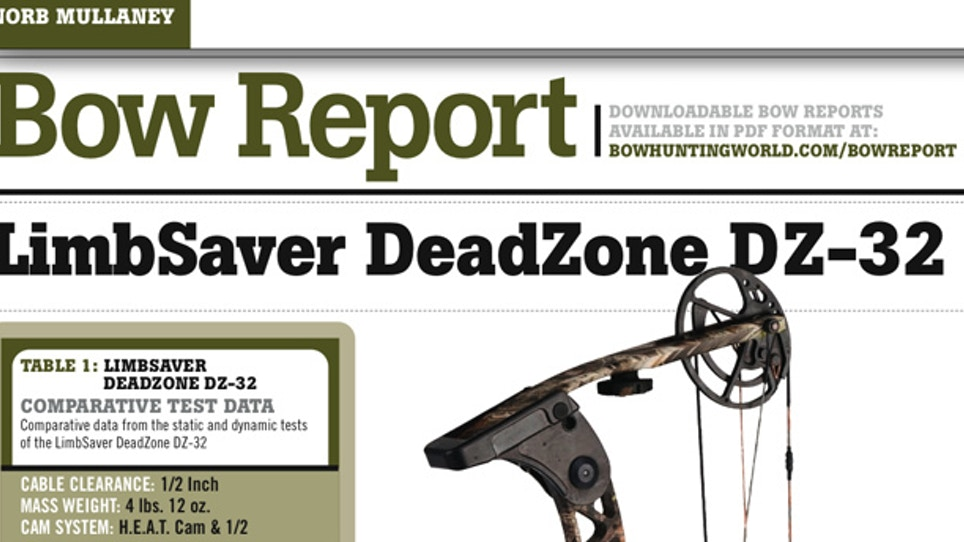 Bow Report: Limbsaver DeadZone DZ-32