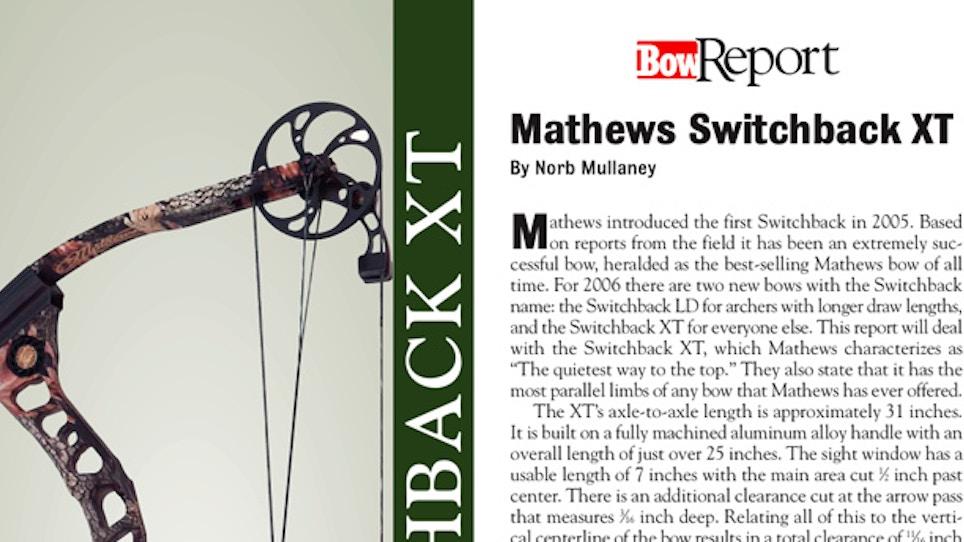 Bow Report: Mathews Switchback XT