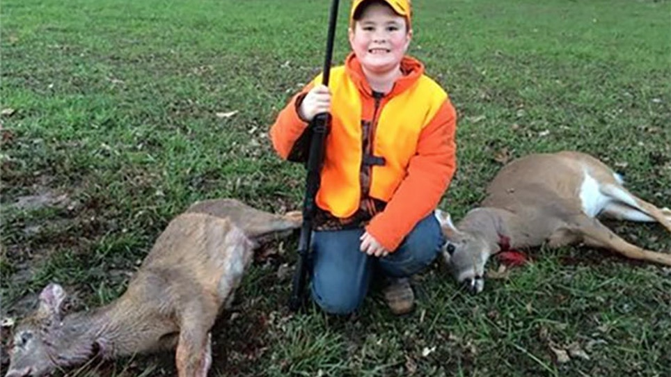 Missouri Boy Bags Two Deer With One Shot