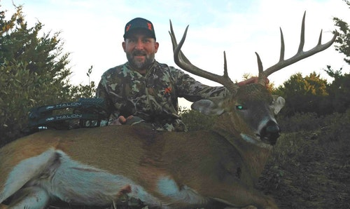 Without a Kansas tag in his pocket, the author purchased an OTC tag in Oklahoma and harvested this mature buck.