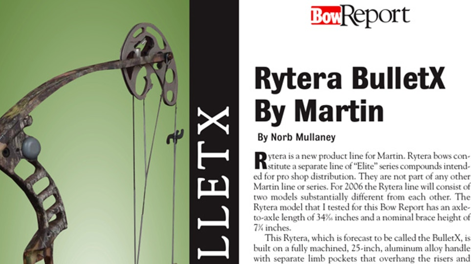 Bow Report: Rytera BulletX by Martin