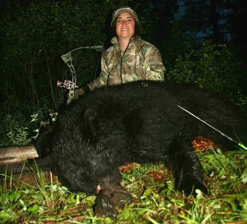 The author's wife has successfully tagged numerous big game animals. Her draw length is 25 inches; draw weight, 48 pounds.