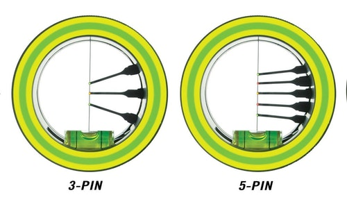 Regardless of whether you shoot three, five or more fixed pins, the author recommends setting the top pin for 15 yards, the second one for 25 yards, then all remaining pins at 5-yard increments.