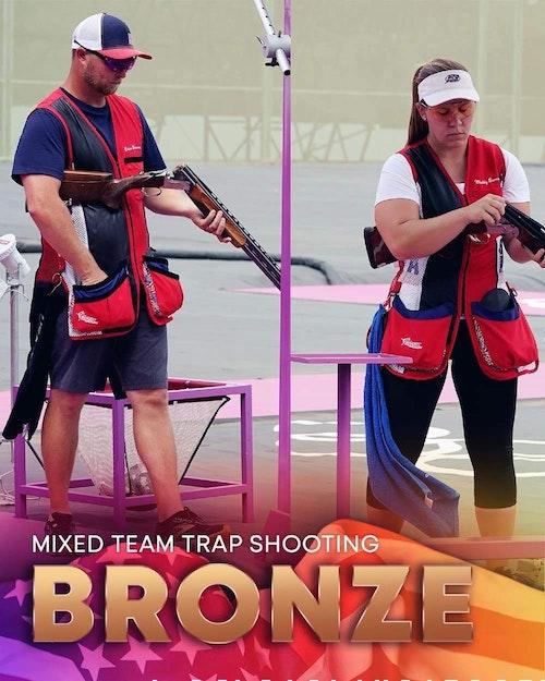 Team USA's Brian Burrows and Madelynn Bernau.
