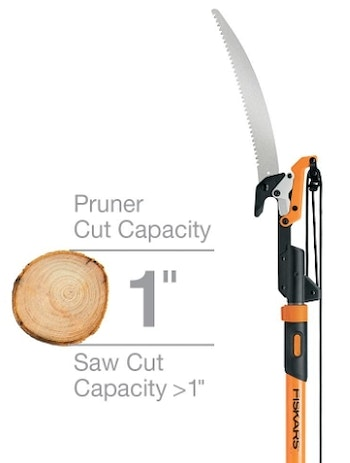 An expandable tree pruner/saw allows you to remove branches that could deflect an arrow from a treestand.