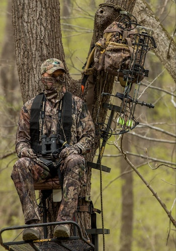 Treestand hunters should also pay attention to breaking up their silhouette by choosing large-diameter trees whenever possible.