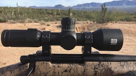 The 5-25x50 Vudu, at just 11.2 inches in length, is one of the shortest first focal plane riflescopes on today's market. Photo: Bob Robb