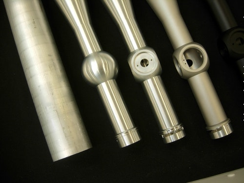 CNC machining of scope tubes from thick-walled tubing ensures strength and holds tight tolerances.