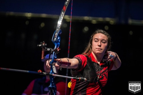 Fifteen-year-old Casey Kaufhold won her first title as Women's Recurve champion.