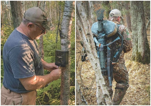 The traveling hunter will want several trail cams and at least one top-notch, lightweight treestand matched with portable climbing sticks.