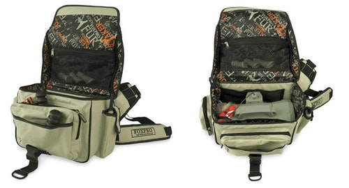 The FOXPRO Large Carrying Case has a dozen pockets and enables predator hunters to find their gear quickly in the field.