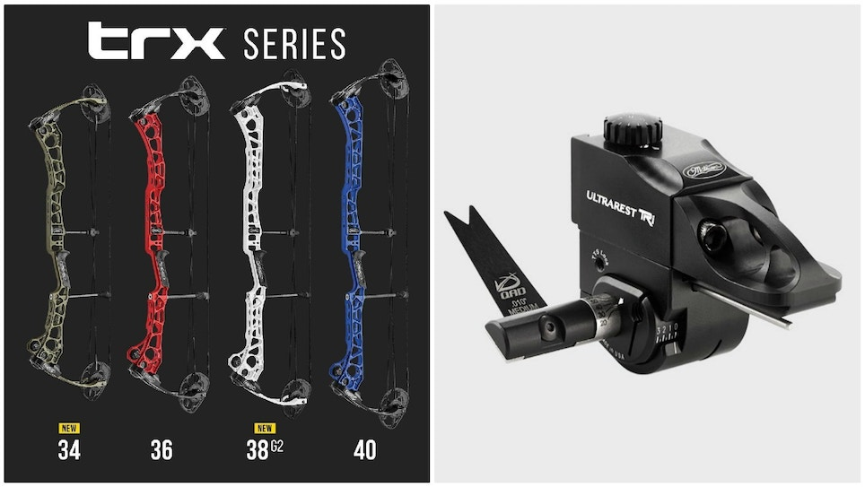 Mathews TRX 34 and TRX 38 G2 Target Bows With QAD Dovetail Mount System