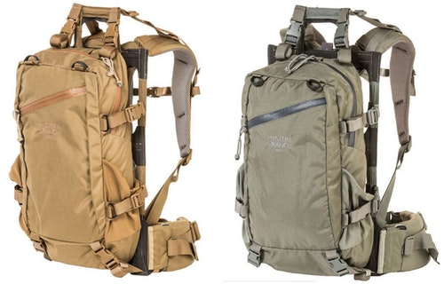 The Mule pack is available in solid colors (Coyote and Foliage, shown above), and camo options (Desolve Bare and Optifade Subalpine).