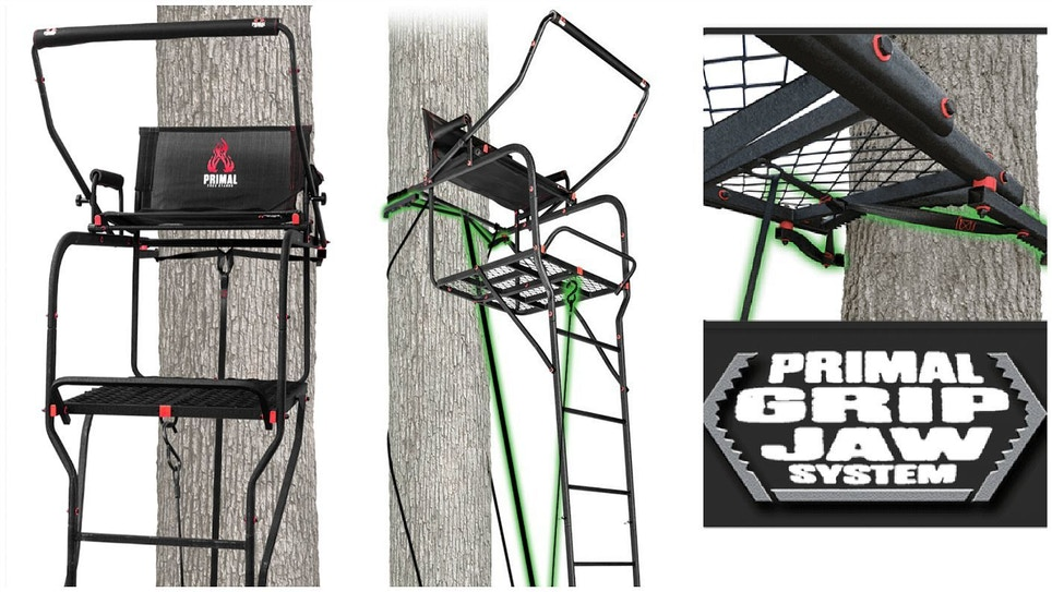 Primal Treestands Mac Daddy Xtra Wide Deluxe Ladder Stand