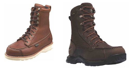 Irish Setter Wingshooter (left) and Danner Pronghorn