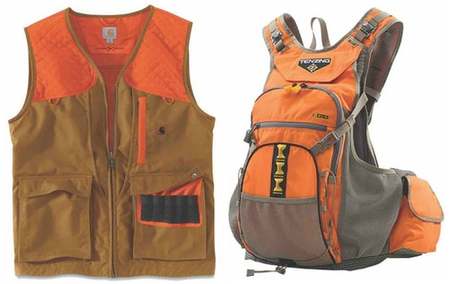 Carhartt (left) and Tenzing vests