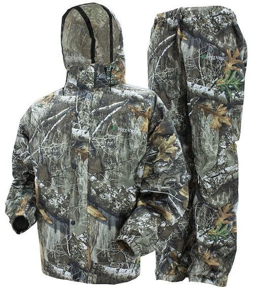 The Frogg Toggs All Sport rain suit in Realtree camo has an MSRP of only $69.99.