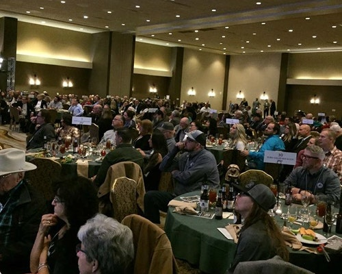 Obviously, not everyone in attendance at the AMDO banquet was bidding on the coveted Commissioners' Elk Tag, but the live auction certainly draws everyone's attention.