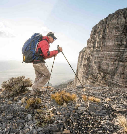 Trekking poles aid in weight transfer, making hiking more energy efficient.