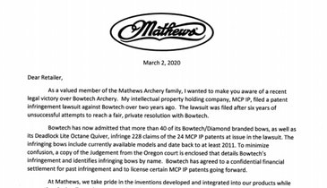 Mathews Wins Major Lawsuit Against Bowtech