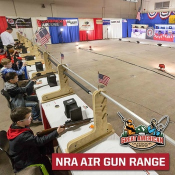 The 15-meter NRA Air Gun Range offers numerous exciting, reactive targets such as spinning metal plates, animal silhouettes and even lollipops.