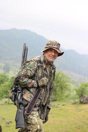 The Hatsan Galatian .25 pcp rifle turkey hunting in California. Photo: Jim Chapman