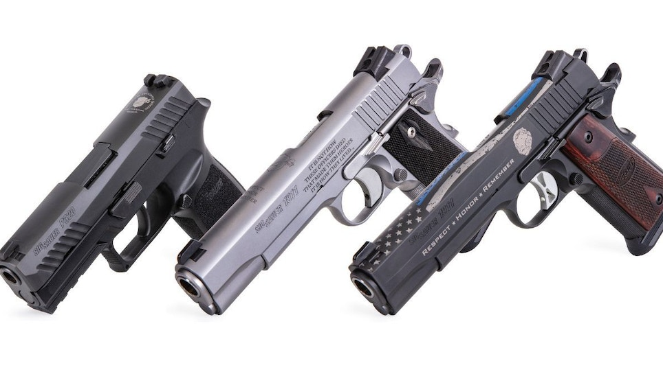 Shooting Sports Industry News: McMillan A-10 Shipping; Sig Sauer Commemorative Pistols