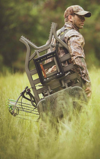 The Tree Stand Buddy allows deer hunters to buy a single, high-quality treestand and a few of the company's brackets to easily create multiple stand sites.