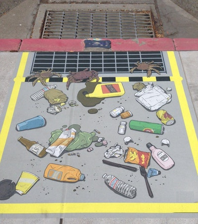 Colorful Messages Raise Awareness of Stormwater Pollution