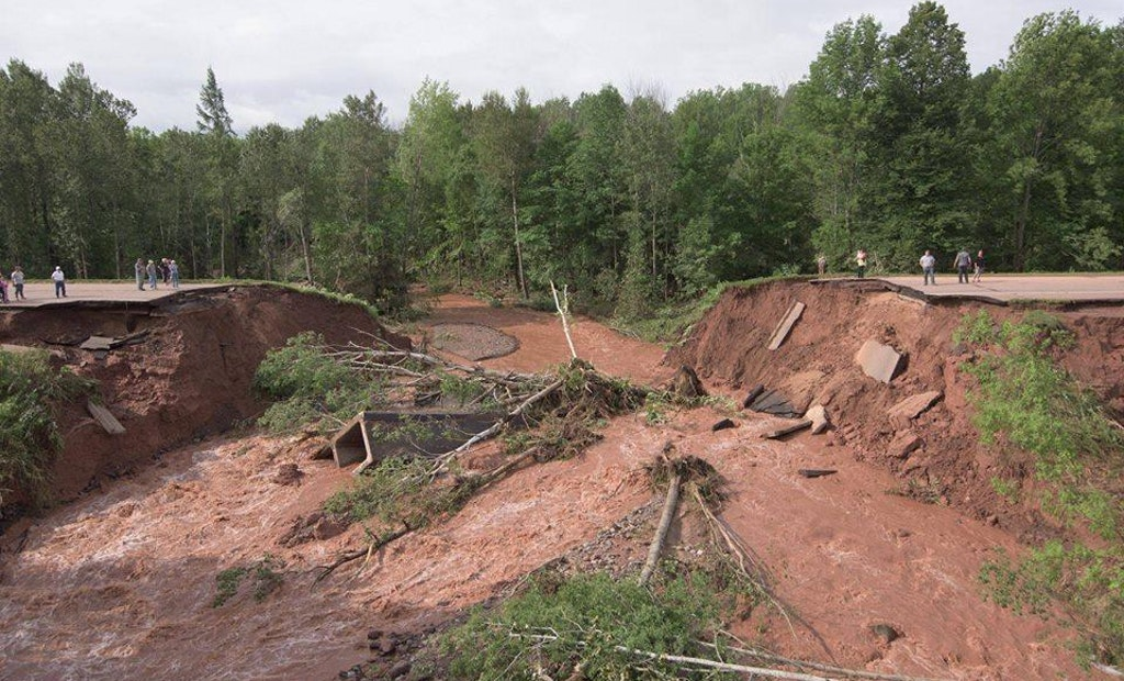 Photos: Flash Flooding Cuts Off Wisconsin City